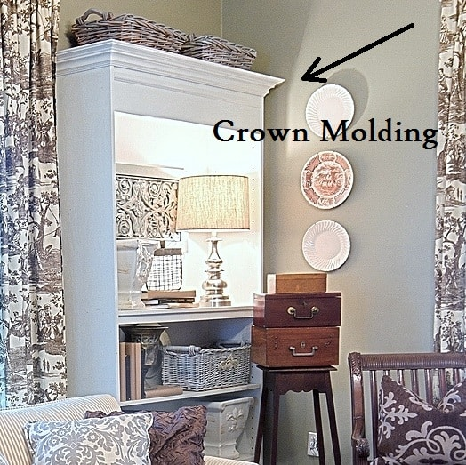 how to add crown molding to a bookcase 2