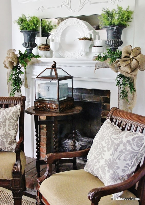11 Summer Mantels {decorating a mantel} - Home Stories A to Z