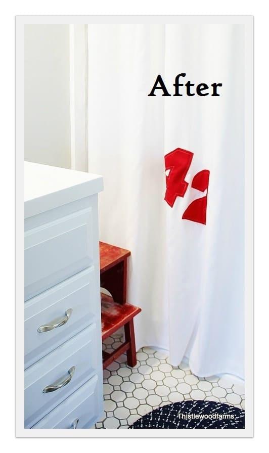 diy sail cloth shower curtain