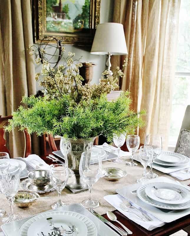 Burlap Curtain: how to smock curtains with Thistlewood Farm on Dining Room Curtains Farmhouse  id=50003