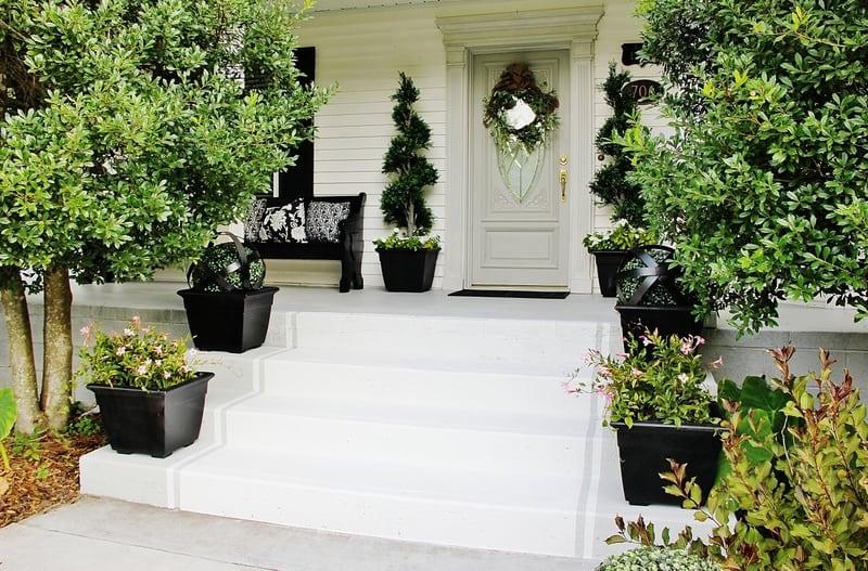 How to paint concrete porch
