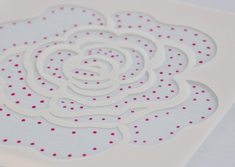 Flower Stencil With Paint Pen