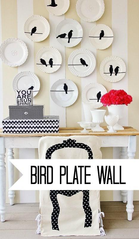 Bird Plate Wall