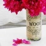 Burlap Vase Project1