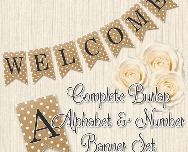 Free Burlap Letters Printable