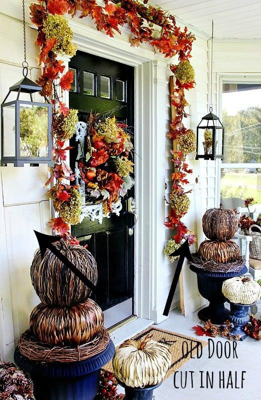 budget fall decorating ideas door ideas1 thistlewood farm. Black Bedroom Furniture Sets. Home Design Ideas