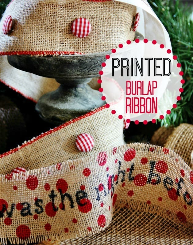 Printed burlap ribbon thistlewood farm for How to use burlap ribbon