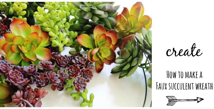 Faux Succulent Wreath (and the Rest of the Story)