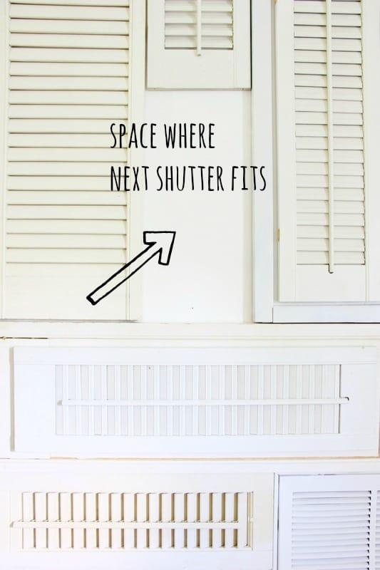 building a shutter wall