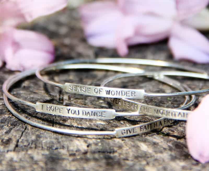 stamped silver bracelets