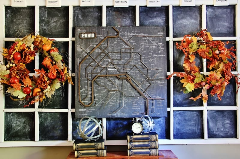 fall decor living room wreath