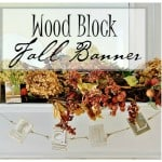 wood block fall banner diy project
