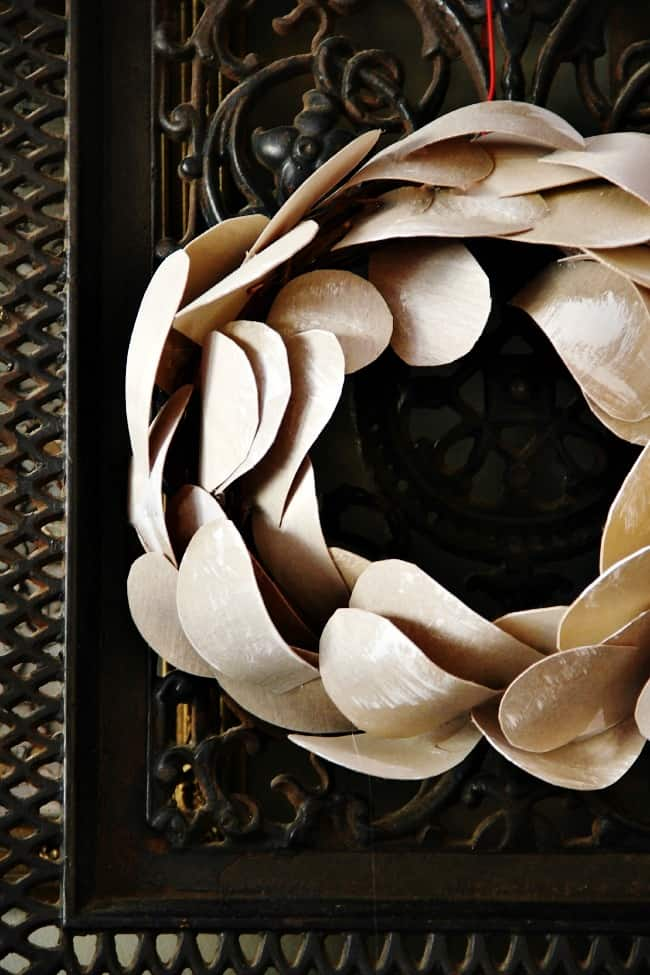 birch bark wreath diy