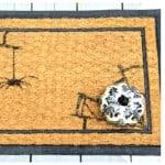 spider web door mat halloween door decorating