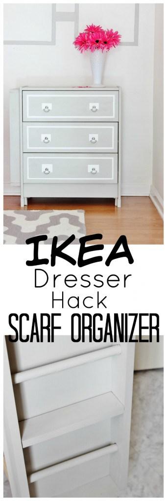 IKEA Dresser Hack Scarf Organizer