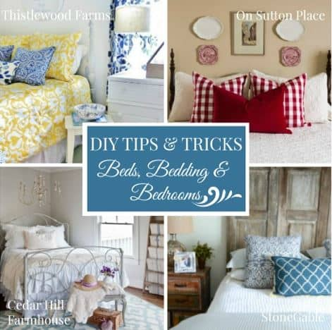 diy tips and tricks for bedding