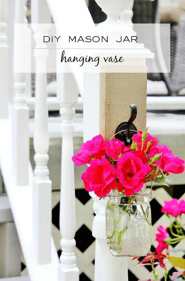 diy hanging mason jar vase diy project