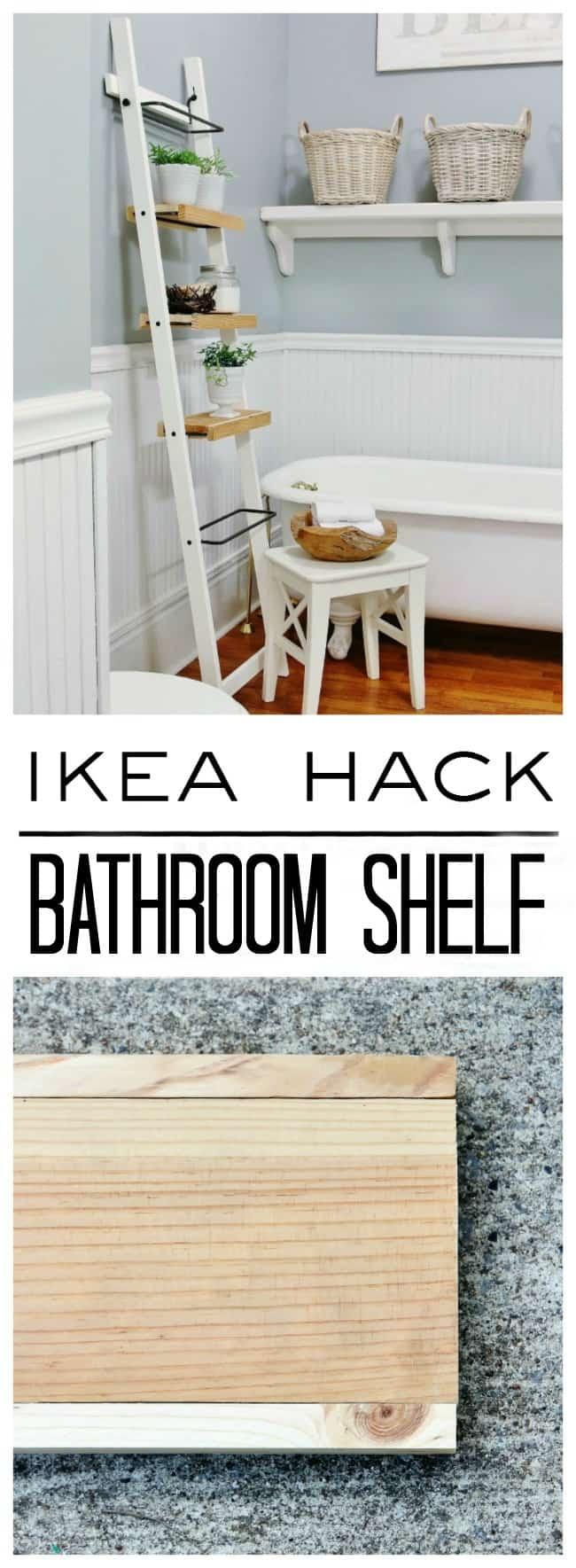 IKEA Hack Bathroom Shelf Project