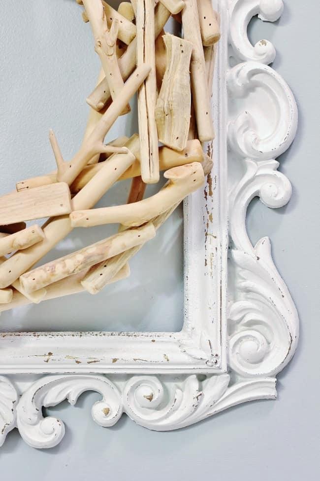 farmhouse bathroom frame and wreath
