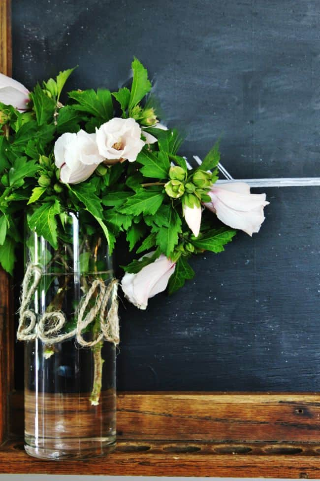 jute twine letter vase