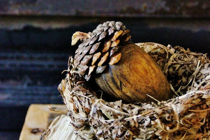 DIY Pinecone Acorn