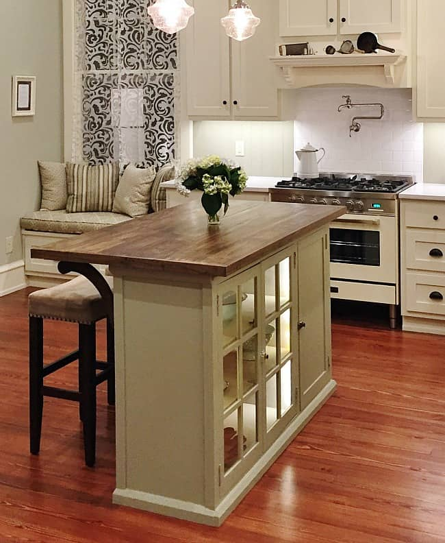 Kitchen Island Project After