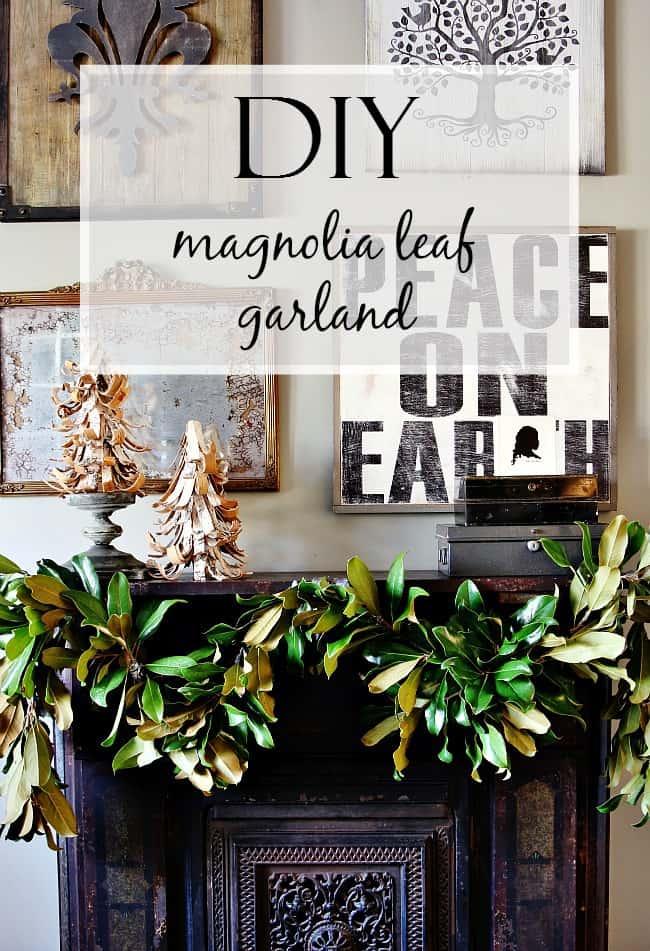 diy magnolia leaf garland project