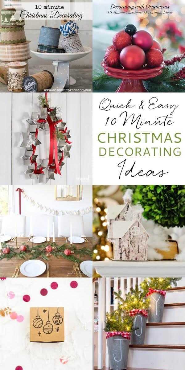 10 minute decorating ideas