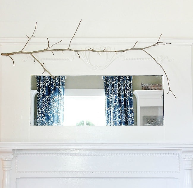 mantel with branch