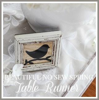 NO SEW TABLE RUNNER- button-stonegableblog.com