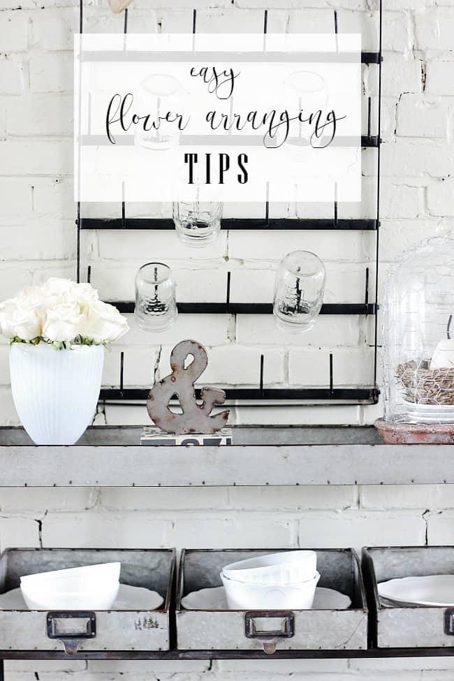 easy flower arranging tips
