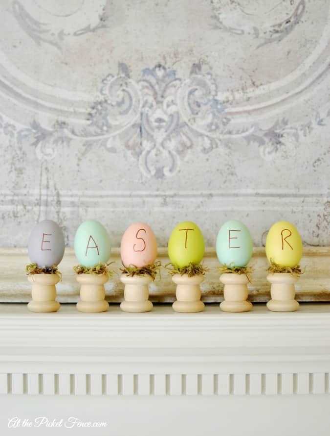 Easter-eggs-on-wood-spindles-craft-atthepicketfence.com_