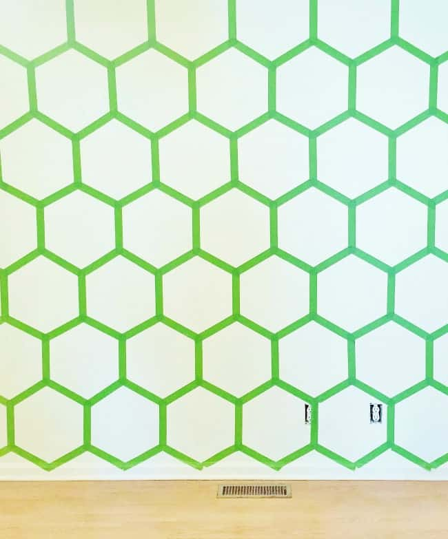 Hexagon Wall Before Paint Picture
