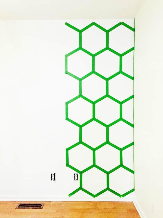 Hexagon Wall In Progress Picture