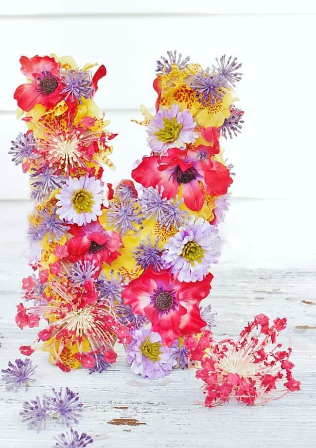 diy flower monogram letter