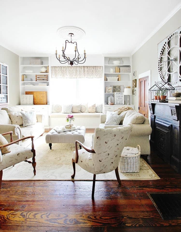 family room farmhouse style