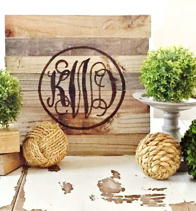 reclaimed wood sign project