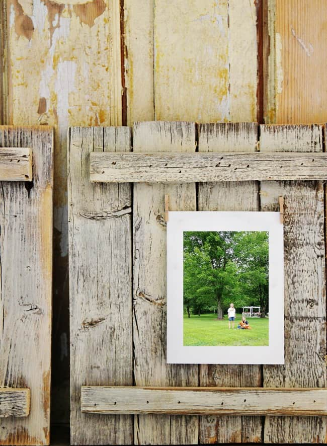 wood diy picture frame