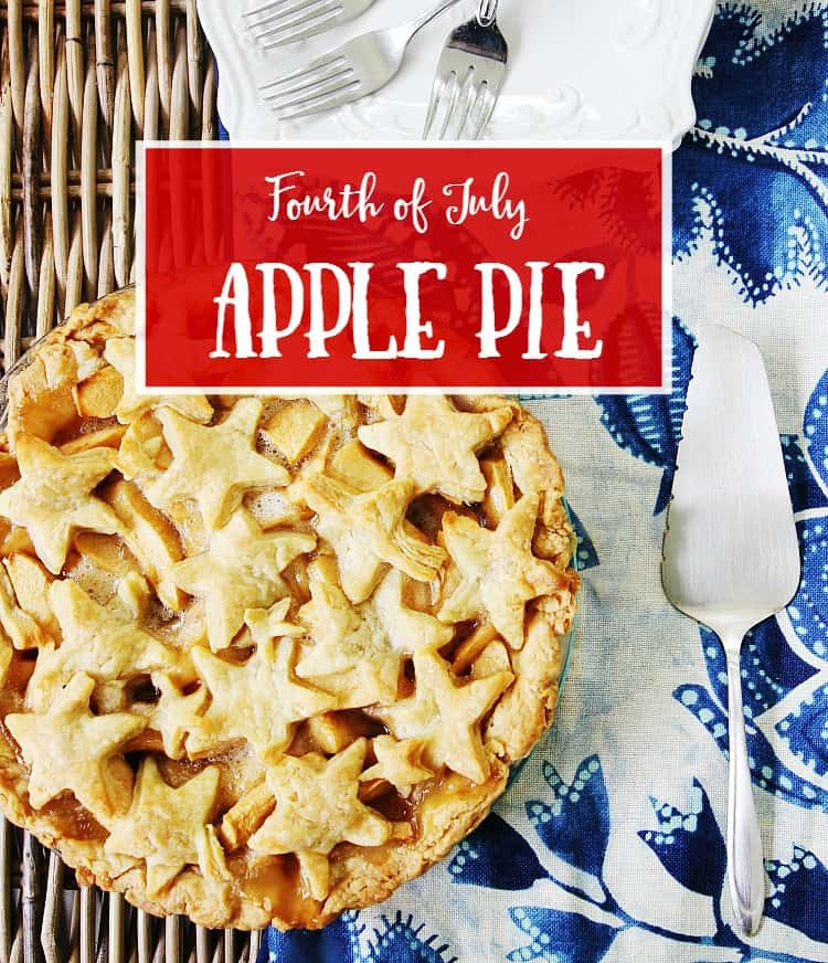 Fourth of July apple pie diy recipe